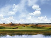Fescue covered dunes were built to emulate the look of Irish links courses.