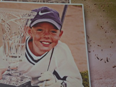 Photo of a young Rory at Hollywood where he learned to play