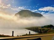 Morro Rock with fog
