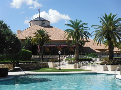 Doral&#039;s Royal Palm pool and spa is an oasis separate from the family pool and water play area.