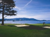 Thanks to countless televised tourneys, the 18th at Pebble is one of golf's best known finishing holes.  (C Joann Dost)