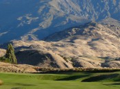 The rugged schist formations of the Remarkables Mountains and the Crown Range are ever in evidence at The Hills.