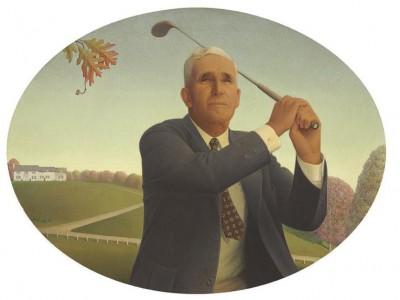 Grant Wood's The American Golfer