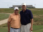 O'Connell and Matt Kuchar (r) at Shinnecock