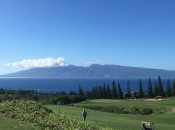 With Molokai and its usual cap of clouds in the background, Maui and the Plantation is heaven on earth.