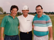 Me and Timmy enjoy a moment with Bruce Crampton at a senior-tour media day in the early 90s. This photo always made us smile. I really need that today.