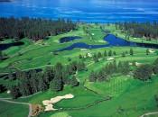 Aerial view of Edgewood Tahoe