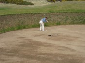"This never would have happened to my friend Pat at Pinehurst. By the way, he managed to hit the infamous ""Shell Bunker"" twice ths round, on two different holes, out and back."