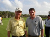 Your's truly with Jack Nicklaus, the greatest golfer to never shoot 59. The Golden Bear is in excellent company.