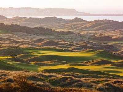 Looking across Royal Portrush Golf Course