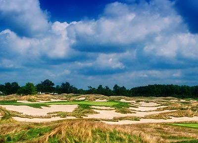 Hell's Half Acre -- No. 17, Par 3 at Purgatory Golf Club.  Photo courtesy of Tenna Merchent, Purgatory Golf Club
