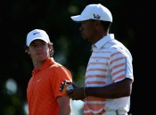 Rory McIlroy (l.) can regain the No. 1 ranking over Tiger Woods (r.) with a win at this week's Houston Open (Photo: Warren Little/Getty Images)