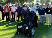 Daniel Meyer shows off his golf skills © Robert Kaufman